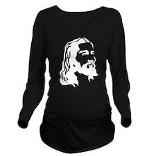 Jesus Face Long Sleeve Maternity T-Shirt