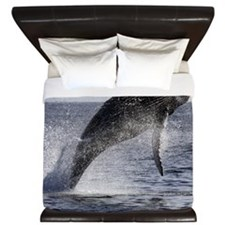 Beautiful Humpback Whale Breaching King Duvet