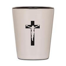Jesus on Cross Shot Glass