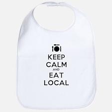 Keep Calm and Eat Local Bib