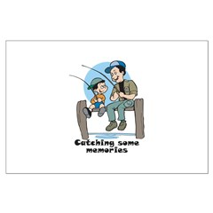Gifts for dad fishing memories Posters