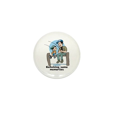 Gifts for dad fishing memories Mini Button (10 pac