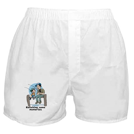Gifts for dad fishing memories Boxer Shorts