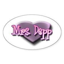 Mrs. Depp Oval Decal