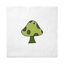 Green Mushroom Queen Duvet