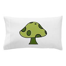 Green Mushroom Pillow Case