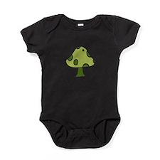 Green Mushroom Baby Bodysuit