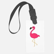 Cute Pink Flamingo Luggage Tag
