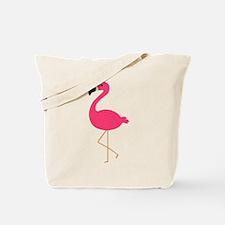 Cute Pink Flamingo Tote Bag