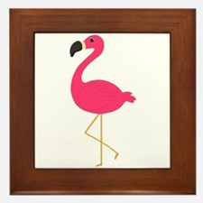 Cute Pink Flamingo Framed Tile