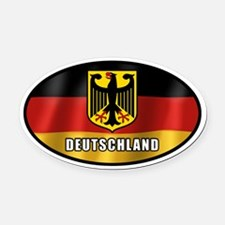 Cute German Oval Car Magnet