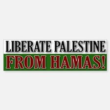 Liberate Palestine from Hamas Bumper Bumper Bumper Sticker