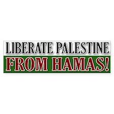 Liberate Palestine from Hamas Bumper Bumper Sticker