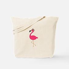 Hat Wearing Flamingo Tote Bag