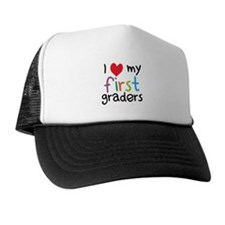 I Heart My First Graders Teacher Love Trucker Hat