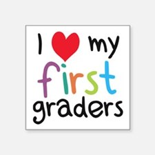 I Heart My First Graders Teacher Love Sticker