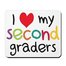 I Heart My Second Graders Teacher Love Mousepad