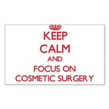 Keep Calm and focus on Cosmetic Surgery Decal