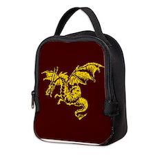 Cute Red dragon fire Neoprene Lunch Bag