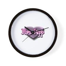 Mrs. Depp Wall Clock