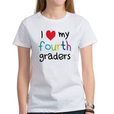 I Heart My Fourth Graders Teacher Love T-Shirt