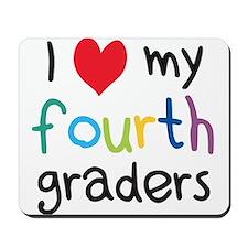 I Heart My Fourth Graders Teacher Love Mousepad