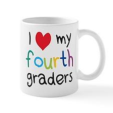 I Heart My Fourth Graders Teacher Love Mugs