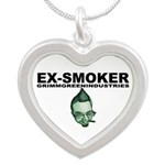 Ex-Smoker Silver Heart Necklace