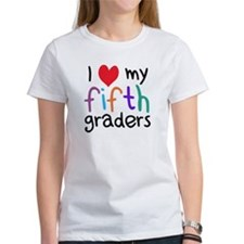I Heart My Fifth Graders Teacher Love T-Shirt