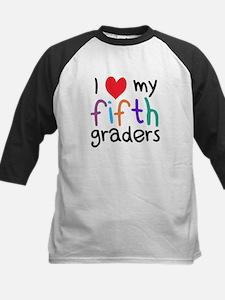 I Heart My Fifth Graders Teacher Love Baseball Jer