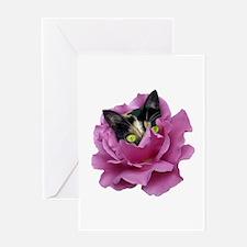 Rose Cat Greeting Card