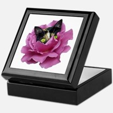 Rose Cat Keepsake Box