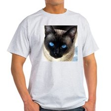 Sam the siamese cat_1crop_large T-Shirt