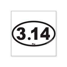 "Cute 3.14 Square Sticker 3"" x 3"""