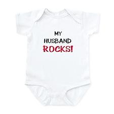 My HUSBAND ROCKS! Infant Bodysuit