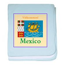 Valkommen! Mexico baby blanket