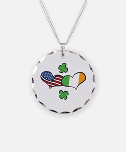 American Irish Hearts Necklace