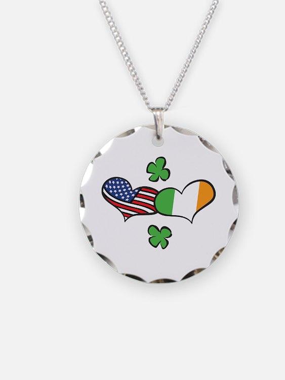 American Irish Hearts Necklace