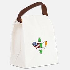 American Irish Hearts Canvas Lunch Bag