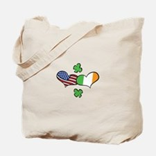 American Irish Hearts Tote Bag