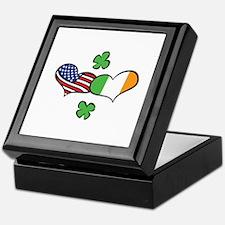 American Irish Hearts Keepsake Box