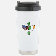 American Irish Hearts Travel Mug