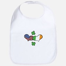 American Irish Hearts Bib