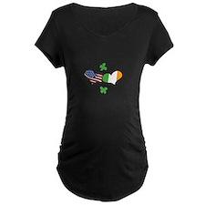 American Irish Hearts Maternity T-Shirt