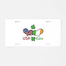 USA Eire Aluminum License Plate