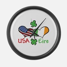 USA Eire Large Wall Clock