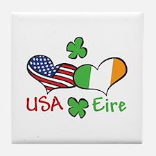 USA Eire Tile Coaster