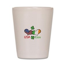 USA Eire Shot Glass