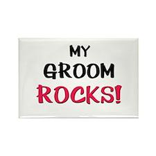 My GROOM ROCKS! Rectangle Magnet