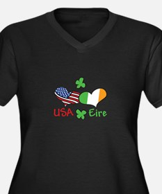 USA Eire Plus Size T-Shirt